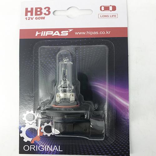 Bóng đèn HIPAS HB3 (9005) 12V 60W (LONG LIFE)