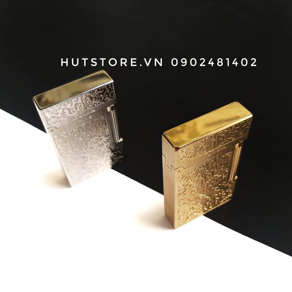 Bật lửa S.T Dupont Replica - Castle Gold & Silver - HUT089