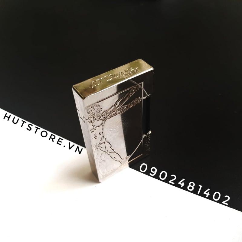 Bật lửa Dupont Super - Da Vinci - Limited Edition - Silver - HUT0012
