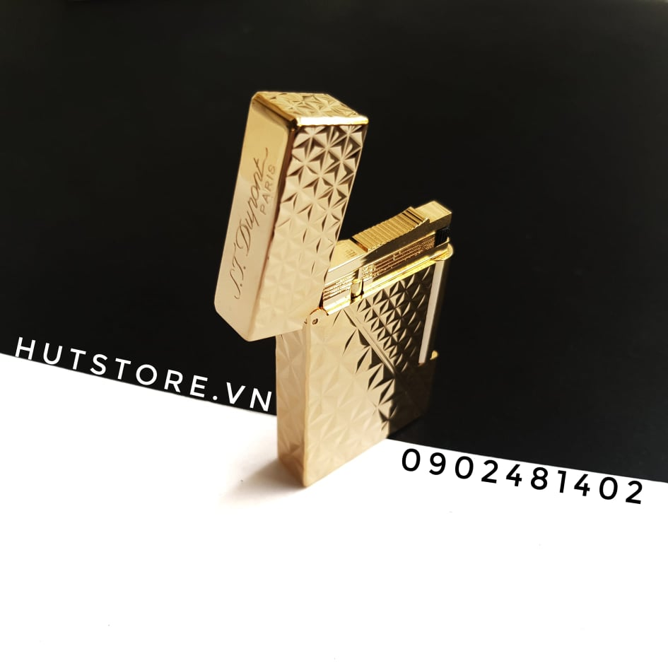 Bật lửa S.T Dupont Replica - Diamond Lines Gold - HUT093