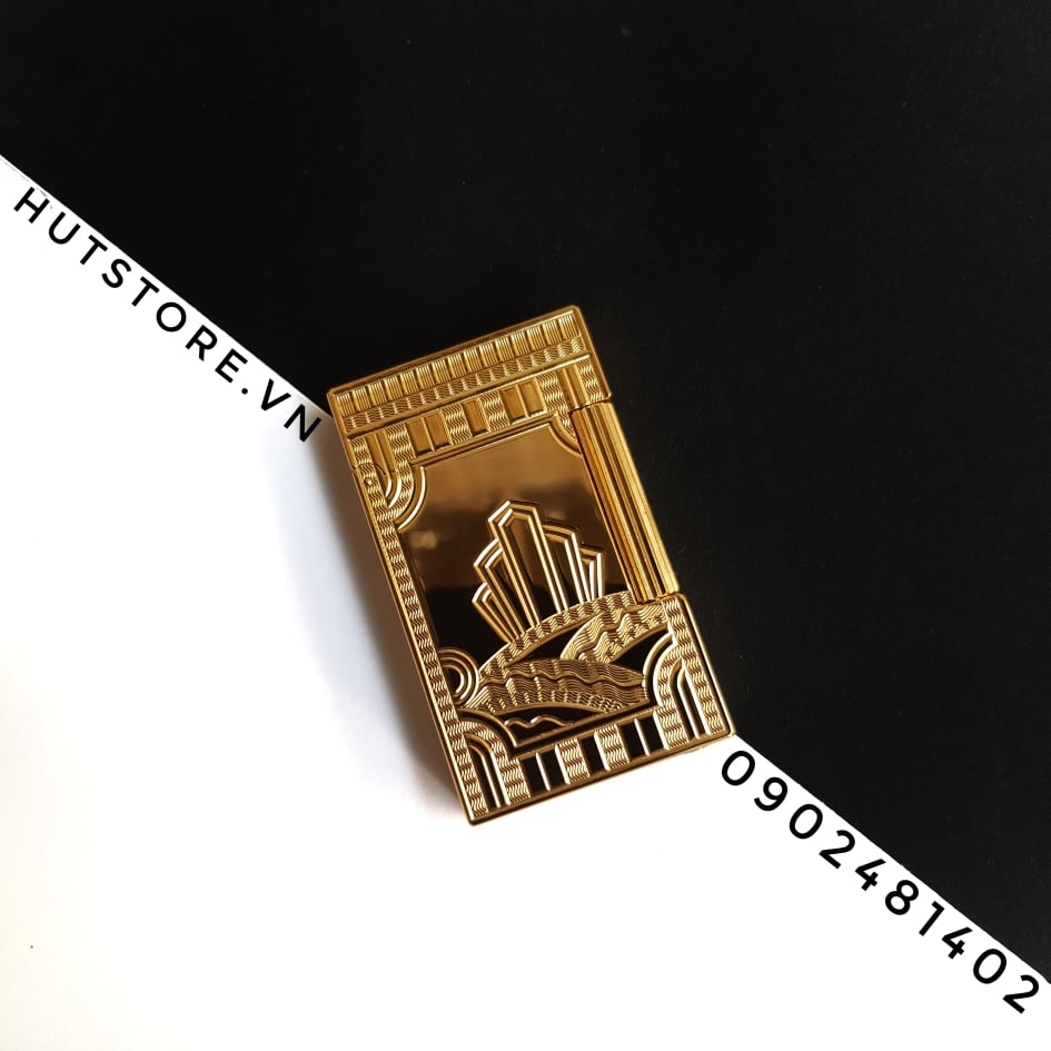 Bật lửa Dupont Super - King of the Rivers - Limited Edition - Gold- HUT0009
