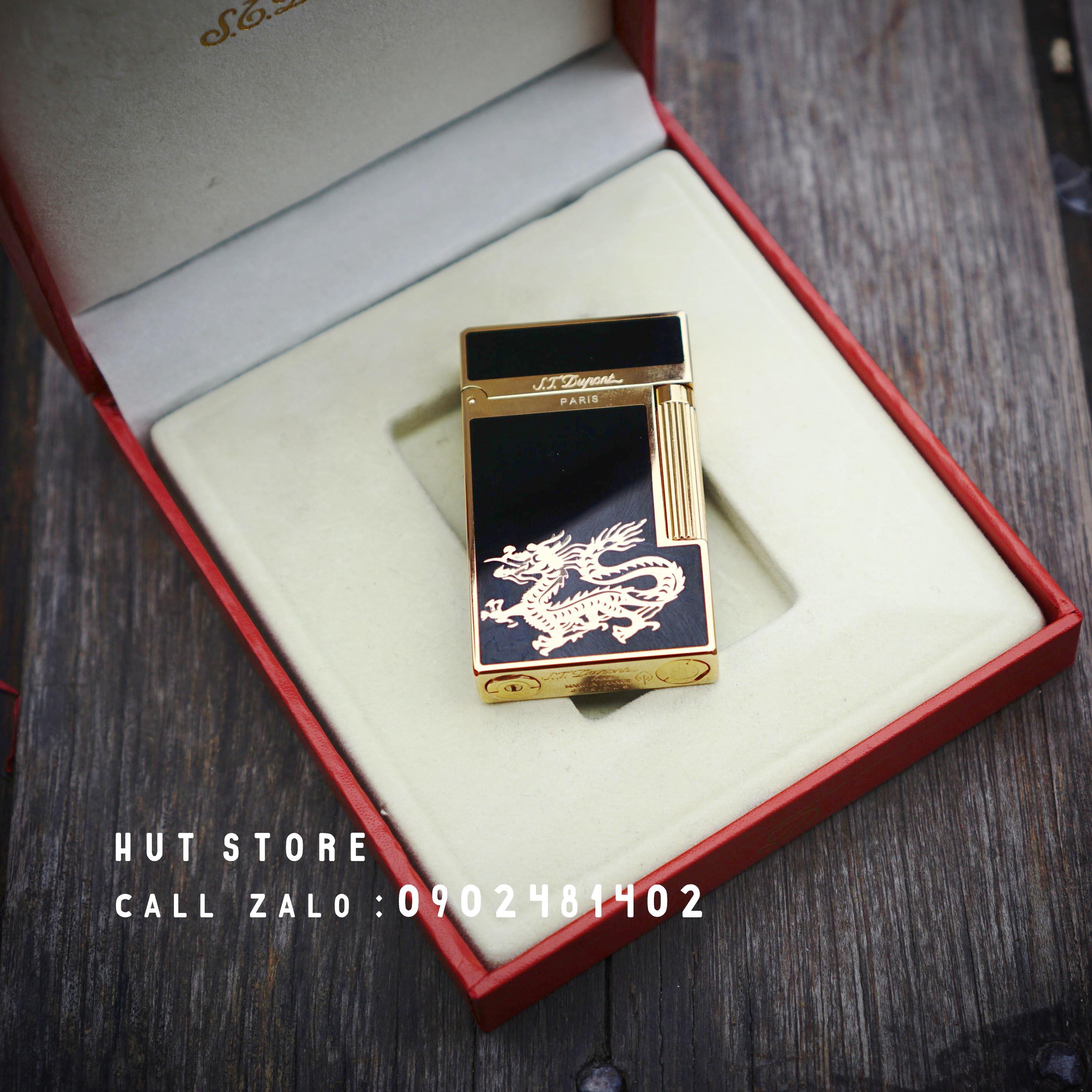 Bật lửa S.T Dupont Replica - Dragon Gold - HUT006
