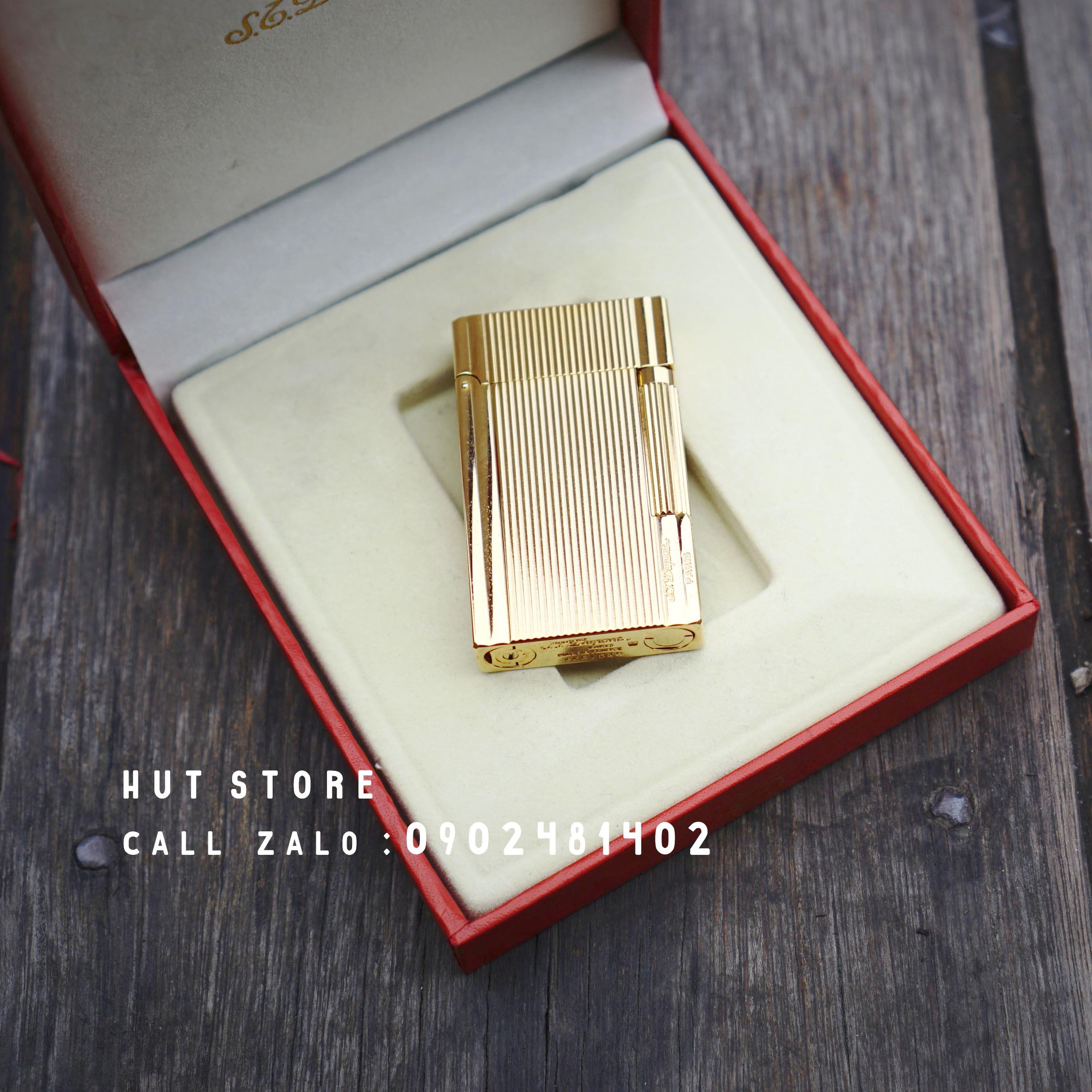 Bật lửa S.T Dupont Replica - Lines Gold- HUT009