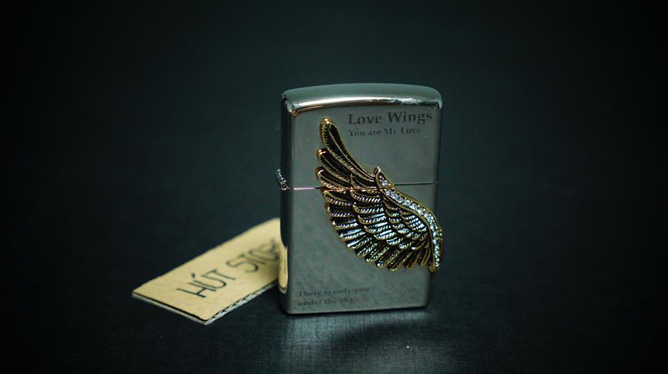 Bật lửa Zippo - Love Wings - Mỹ xuất Nhật