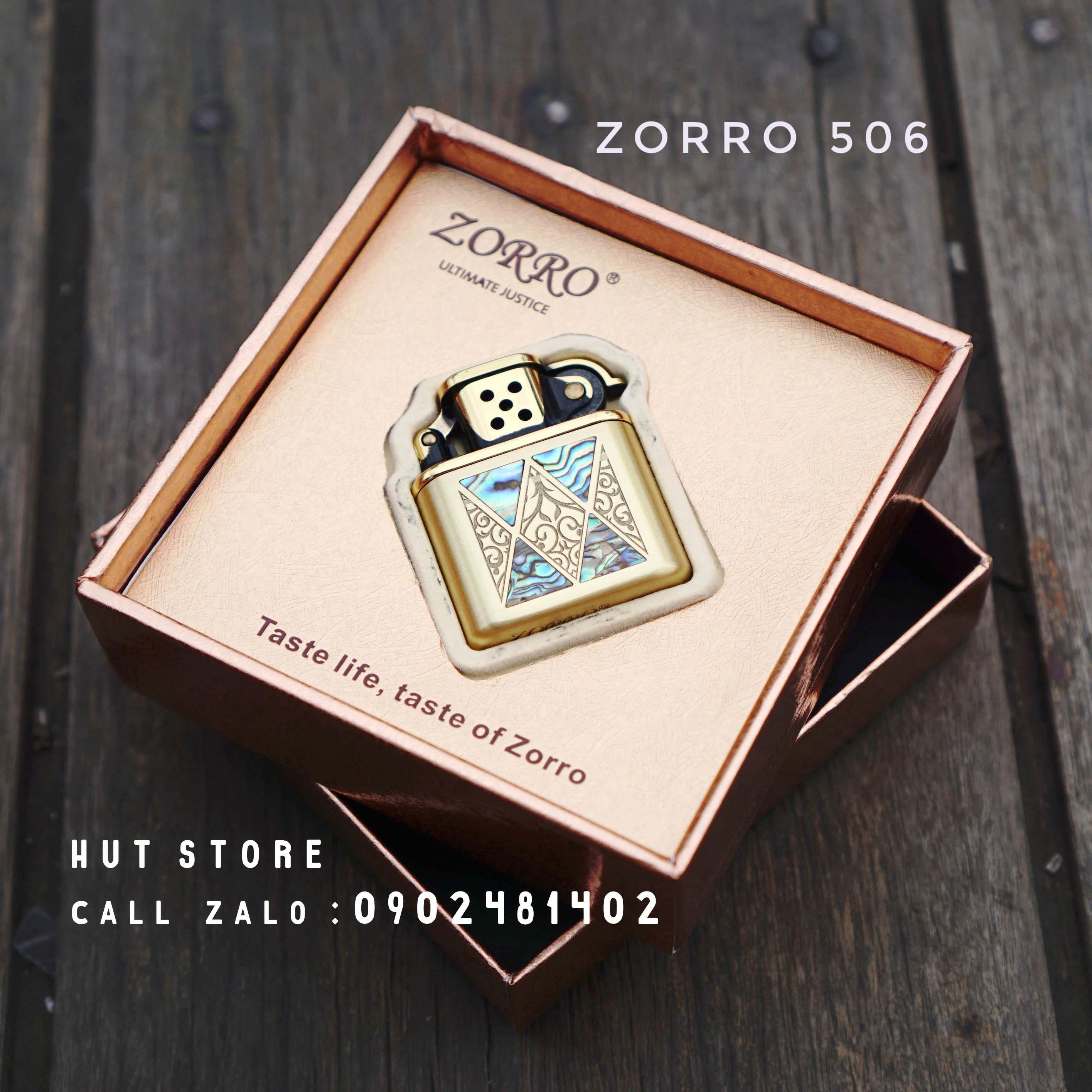Bật lửa xăng khảm trai Zorro Z506-800(123)