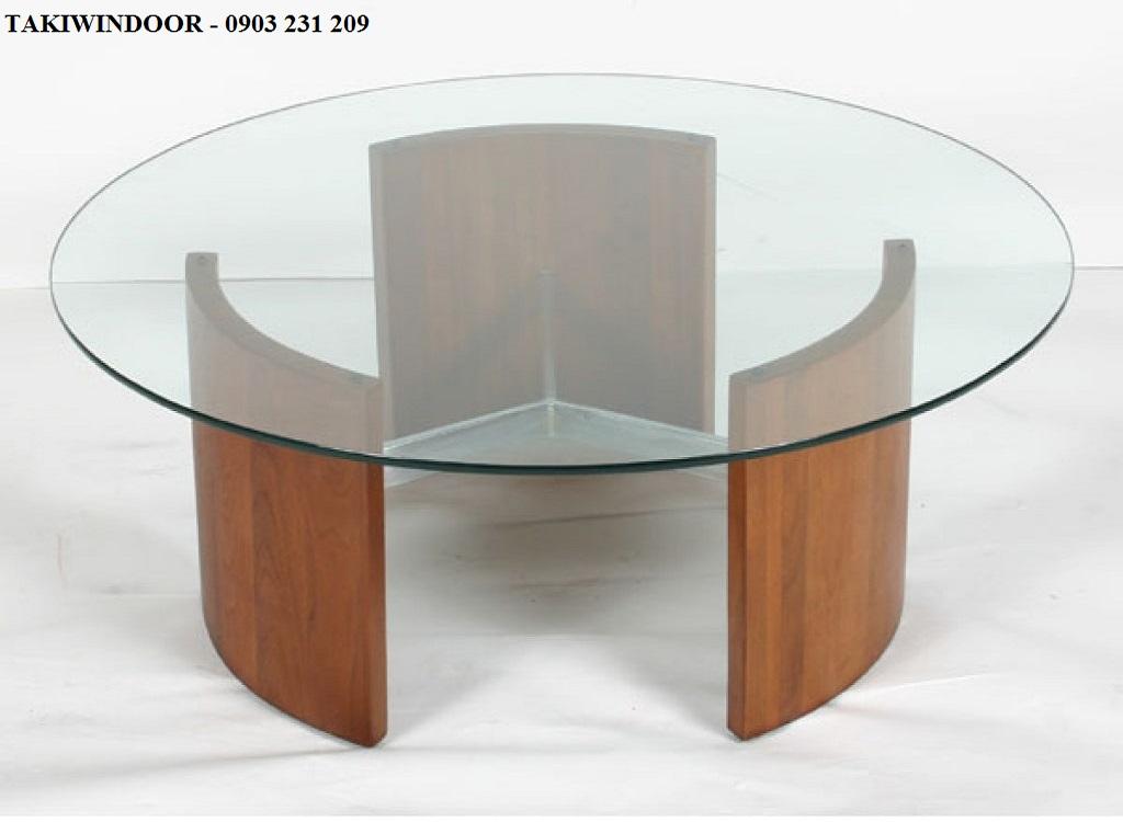 Mặt bàn kính cường lực tròn, ovan