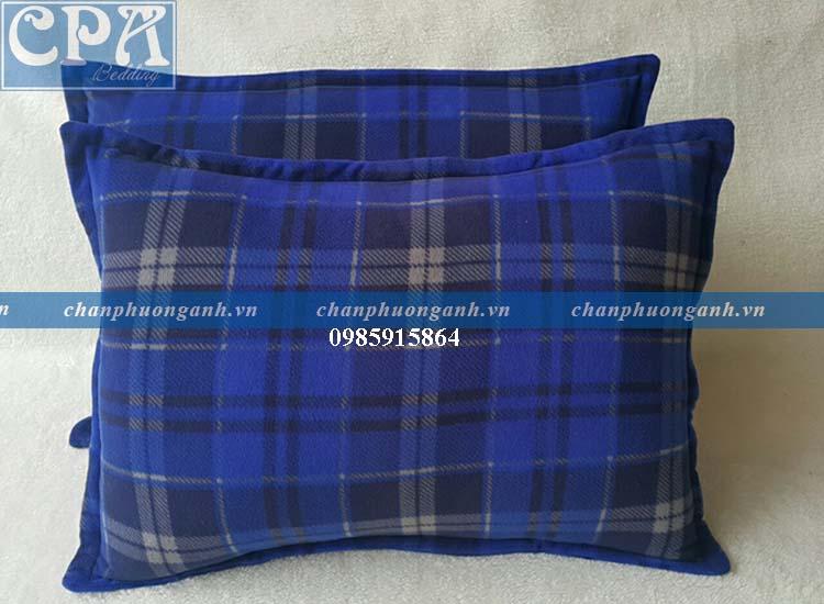 Set chăn gối Phương Anh - kẻ xanh