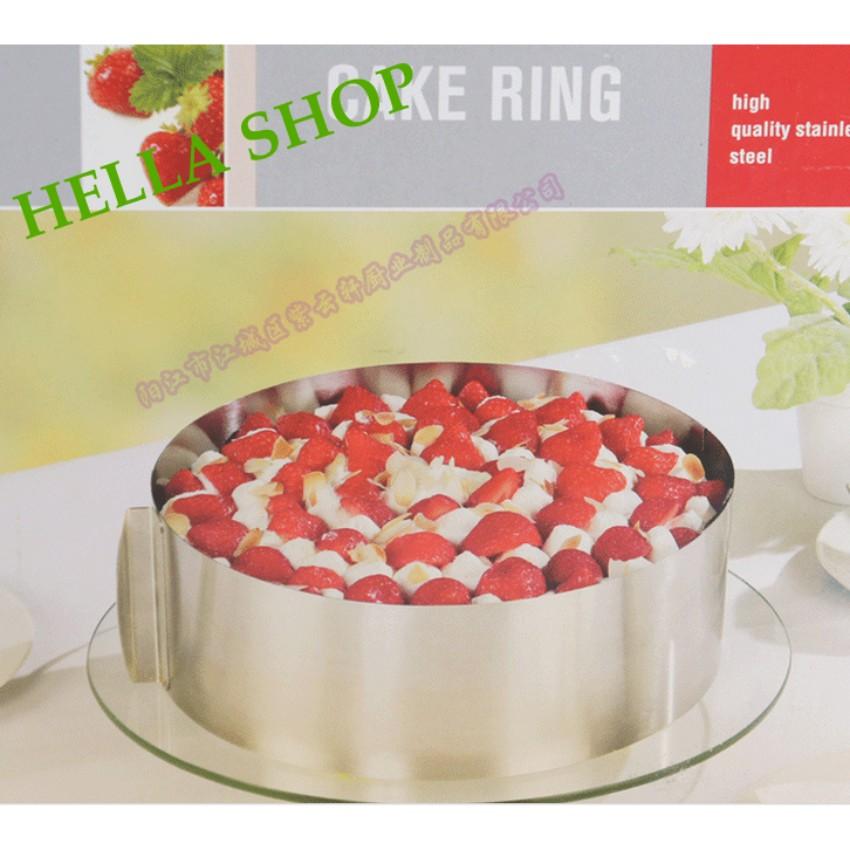 Ring mousse tròn thay đổi kích thước từ 16-30cm