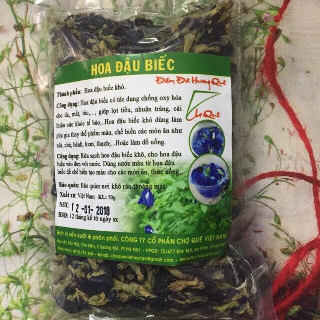 Hoa đậu biếc khô tạo màu xanh dương gói 50 gam