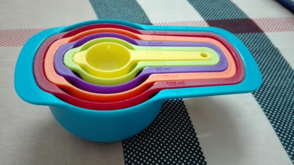 Bộ thìa đong 6 món màu sắc
