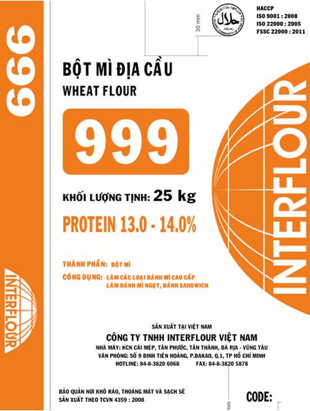 Bột mì địa cầu 999 (1kg)