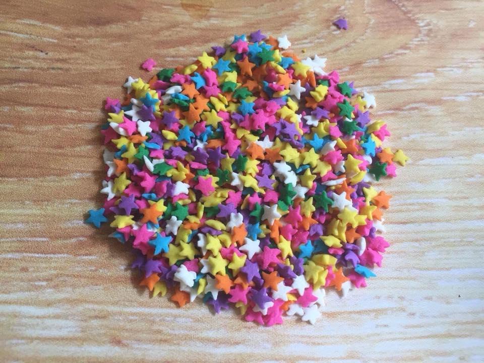 Bông đường ngôi sao màu sắc 20 gam