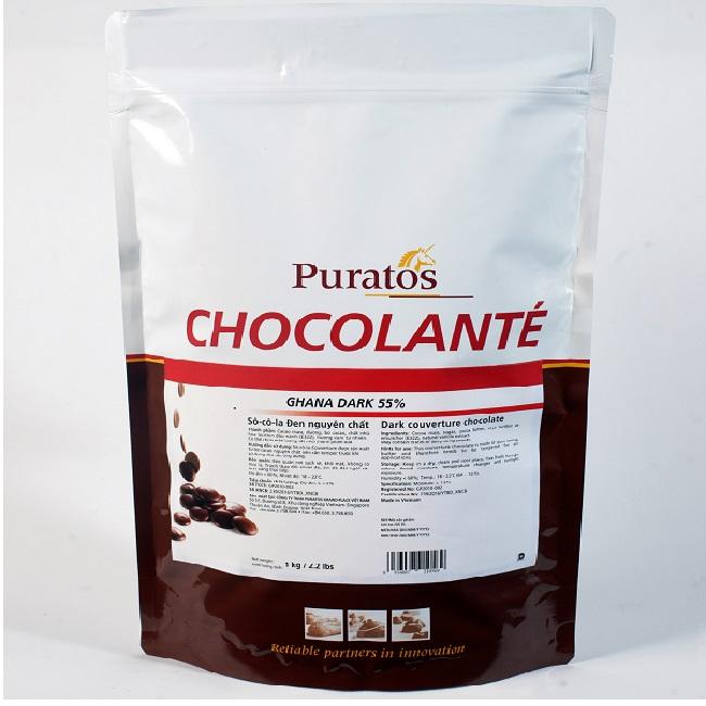 Socola Puratos hạt nút 55% 1kg