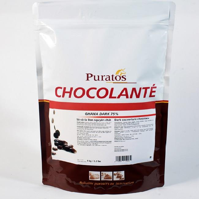 Socola Puratos hạt nút 75% 1kg
