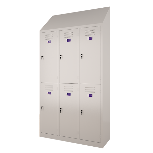 Sloping locker (Double row)