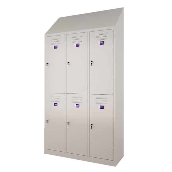Sloping locker (Double row)