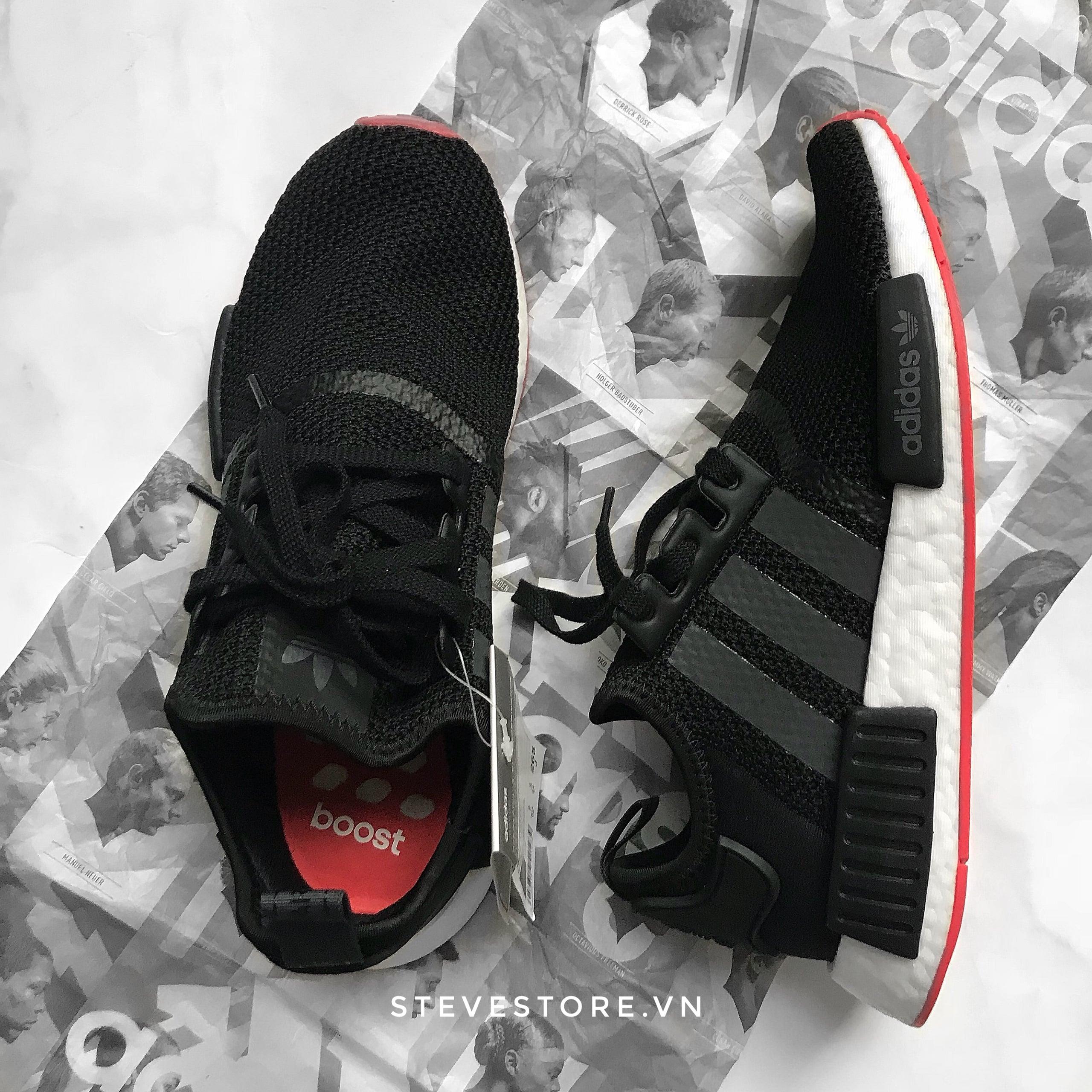 Hàng Chính Hãng Adidas NMD R1 Đen & Đỏ