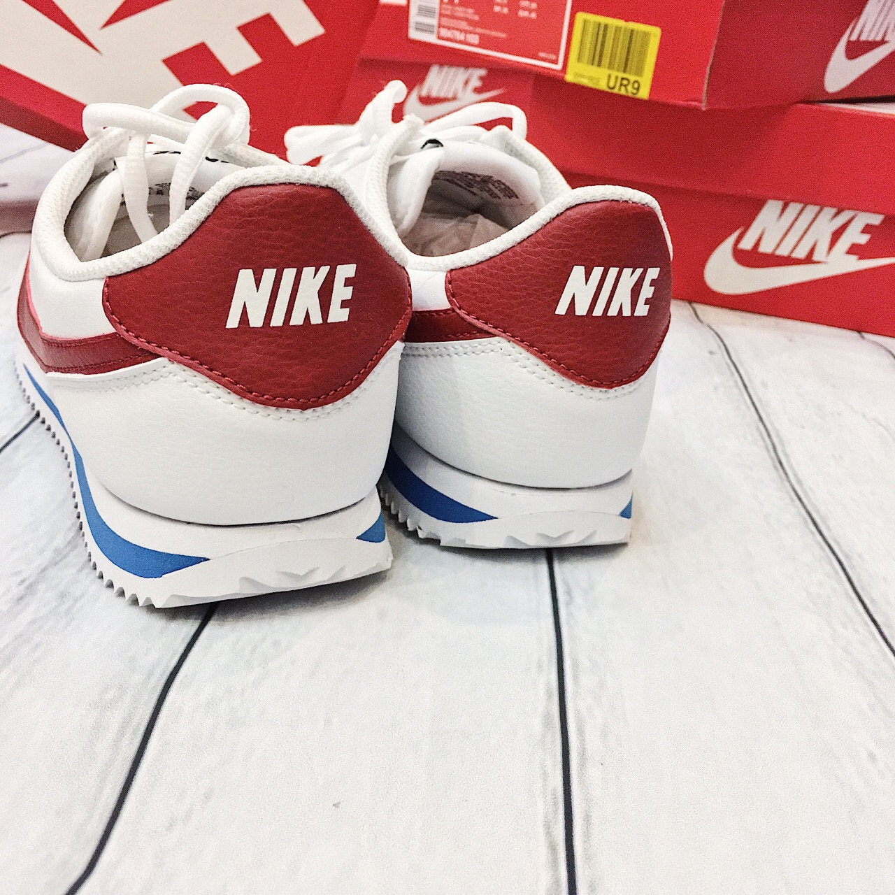 Hàng chính hãng Nike Cortez trắng đỏ