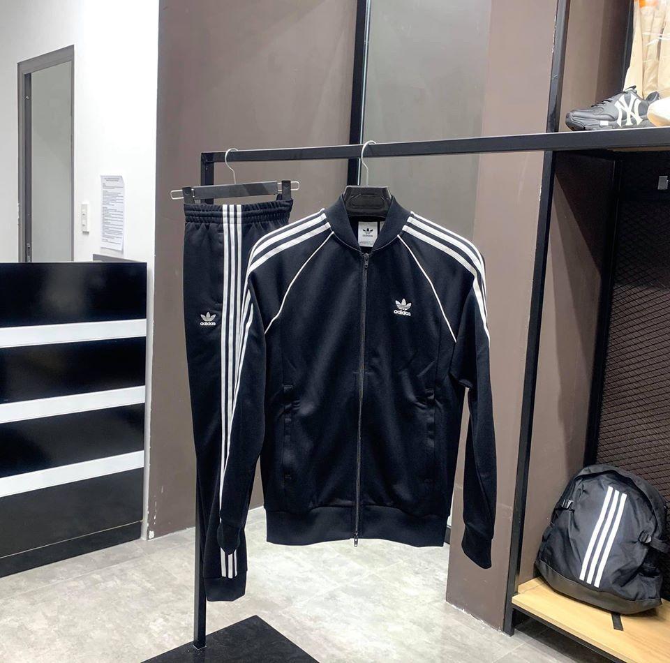 Hàng chính hãng Adidas Bộ SST 3 sọc trắng đen