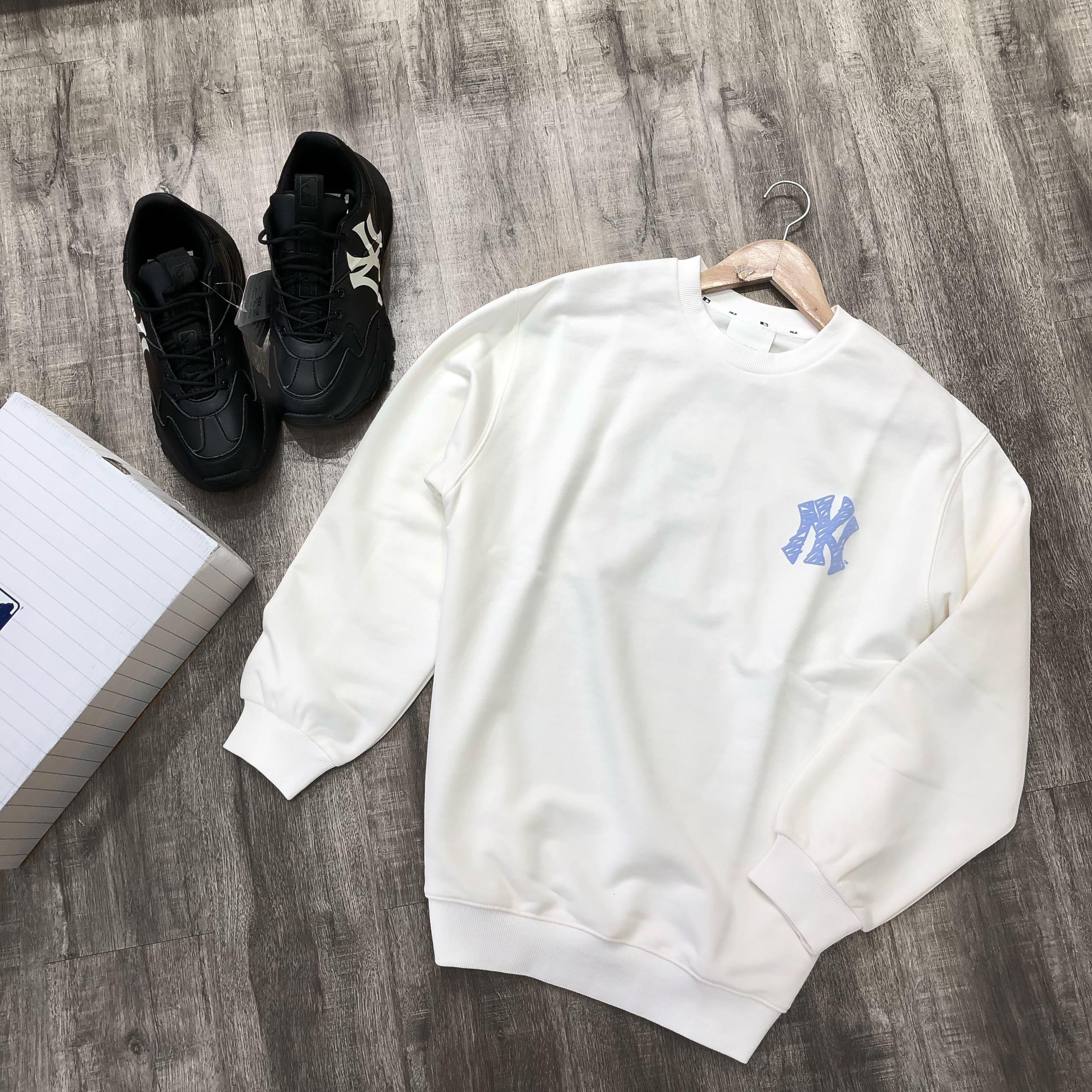 Hàng chính hãng MLB áo sweatshirt LIKE trắng
