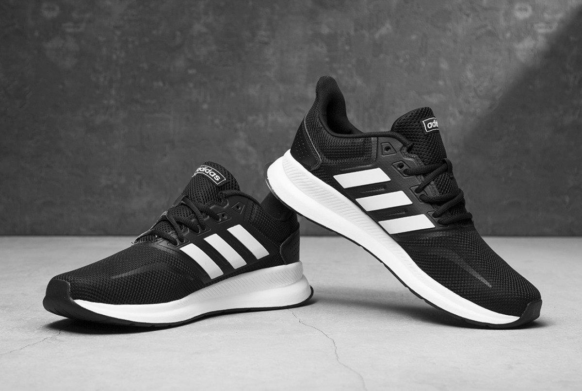 Hàng chính hãng Adidas Falconrun Black White f36199
