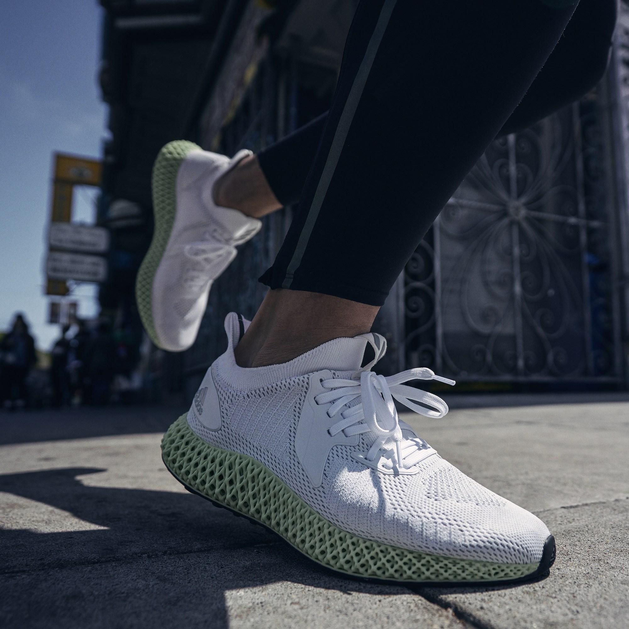 Hàng chính hãng Adidas AlphaEdge 4D Shoe - Reflective White (FV4687)
