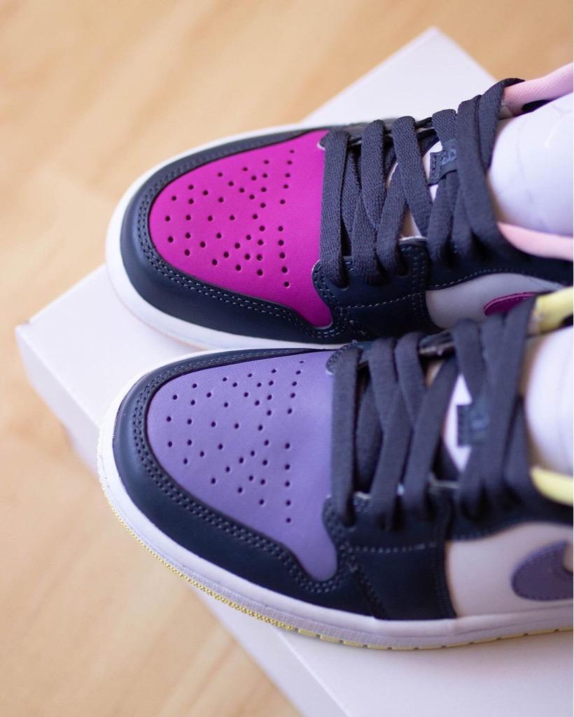Hàng chính hãng Jordan 1 Low Purple Mismatch DJ4342400