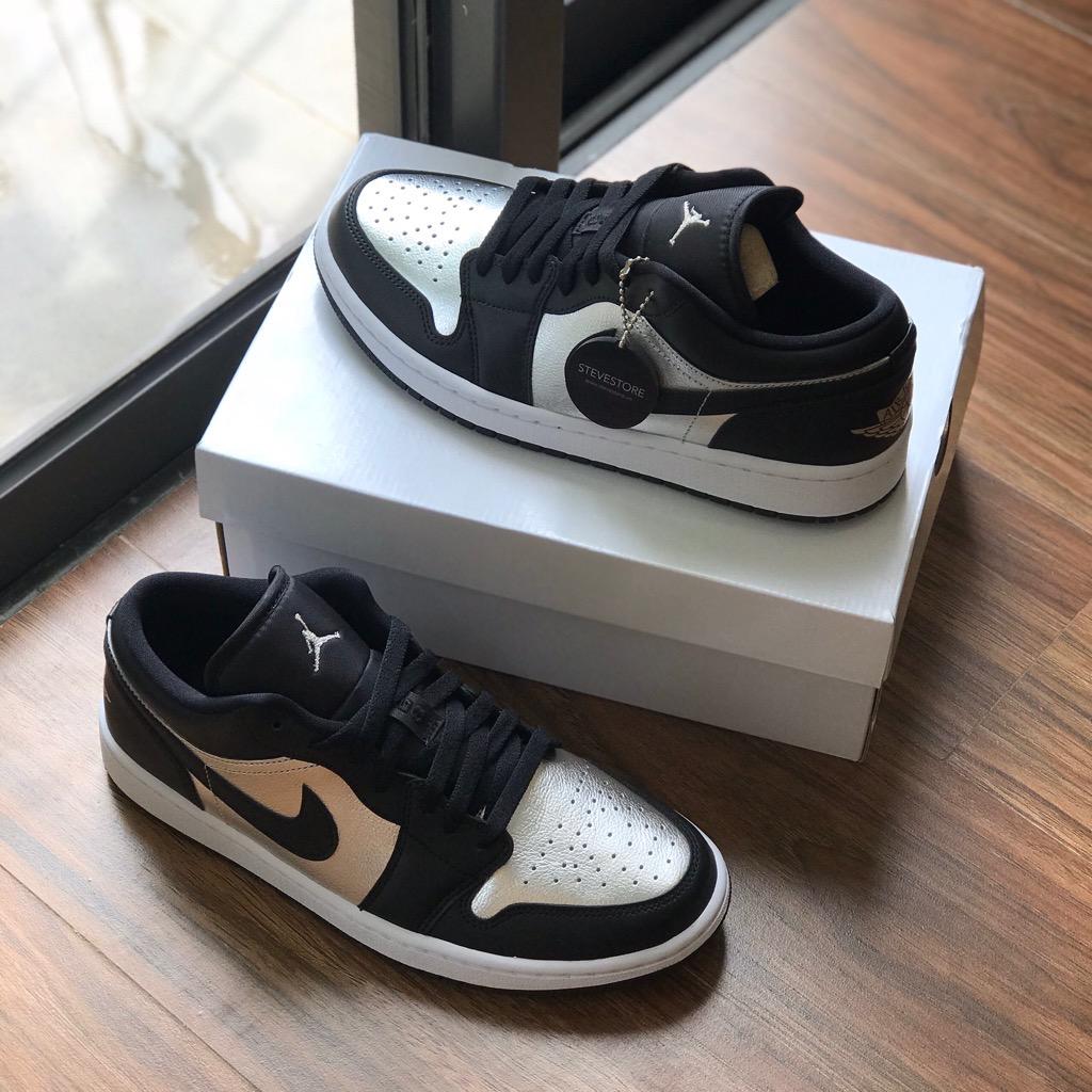 Hàng chính hãng Jordan 1 Low Silver Black Toe DA5551001