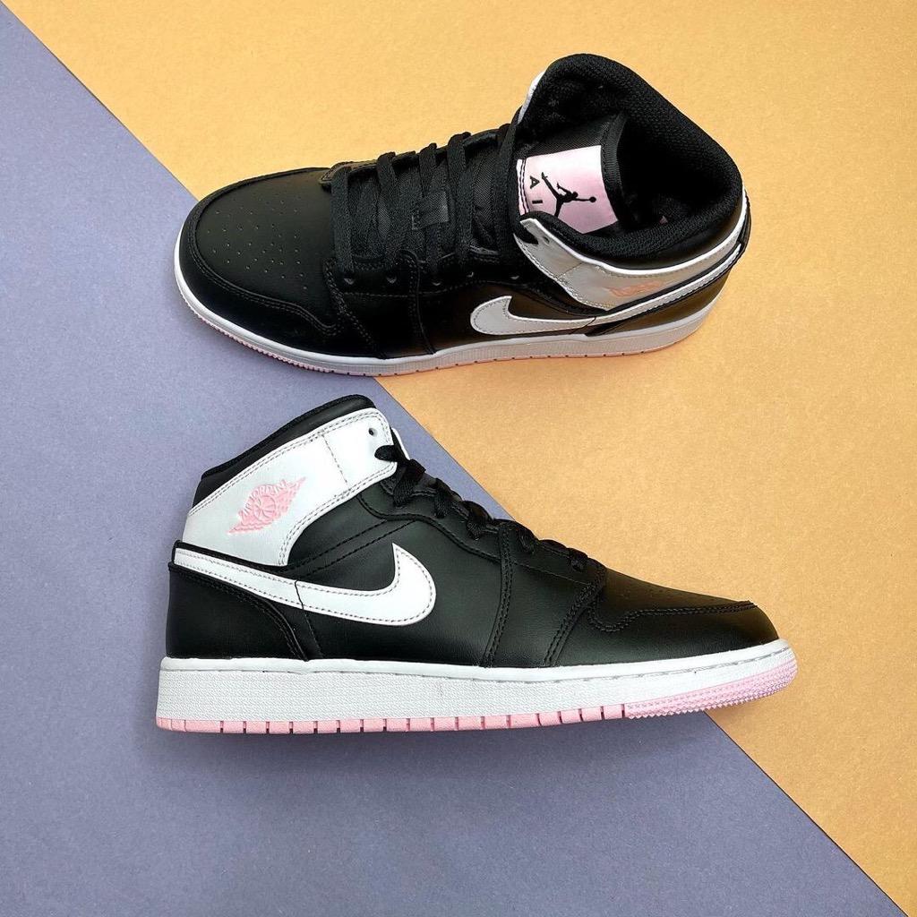 Hàng chính hãng Jordan 1 Mid Artic Pink Black 555112061