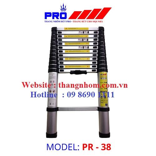 Thang nhôm rút Pro PR-3,8m