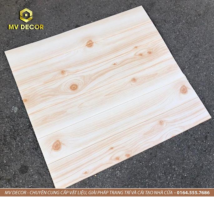 Xốp dán tường 3D giả gỗ nhạt