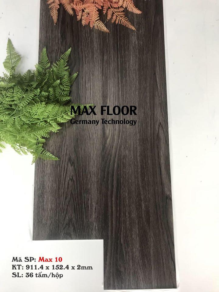 Sàn nhựa vân gỗ tự dính - Mã Max 10