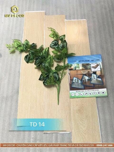 Sàn nhựa vân gỗ tự dính - Mã 14