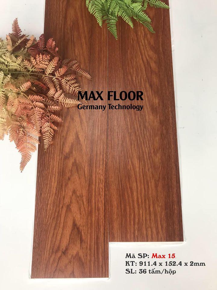 Sàn nhựa vân gỗ tự dính - Mã Max 15