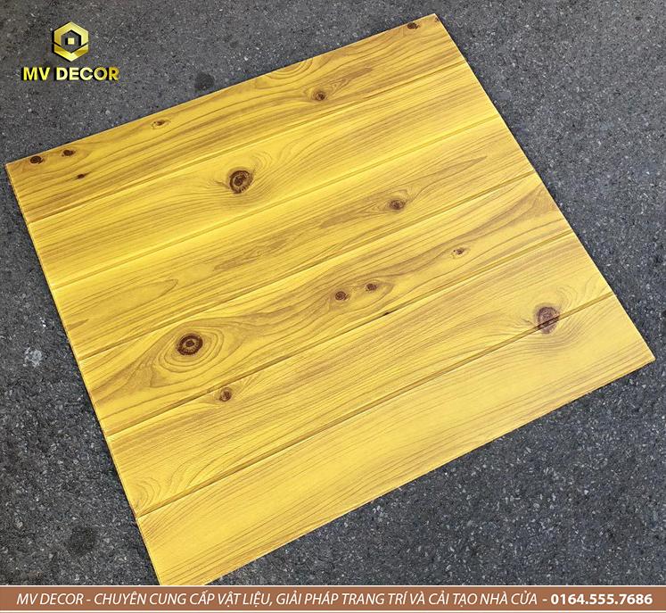 Xốp dán tường 3D giả gỗ đậm