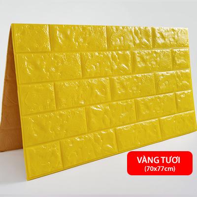Xốp dán tường 3D giả gạch - Vàng tươi
