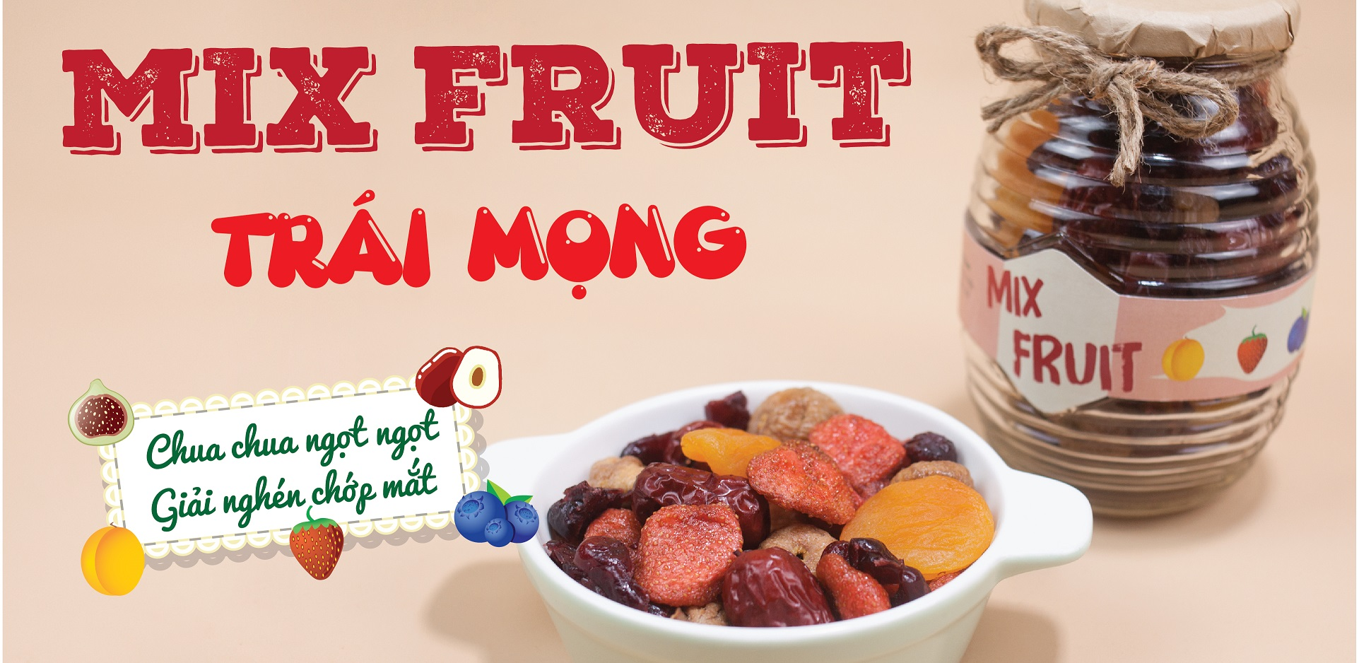 mix fruit trái mọng