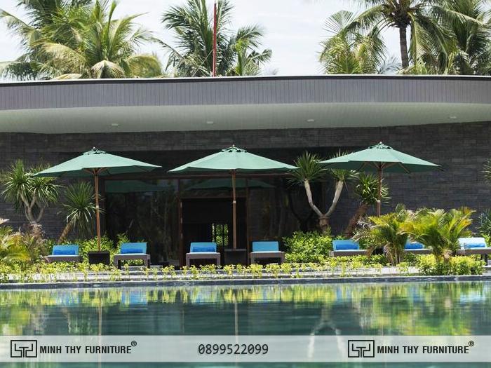 ghế hồ bơi resort
