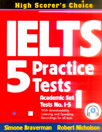 IELTS 5 Practice Tests Academic Set 1-Tests No.1-5