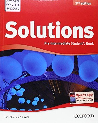 Solutions - Pre Intermediate - Student's Book