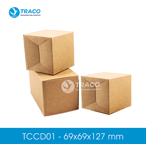 Combo 1000 hộp carton TRACOBOX TCD01 - 69x69x127 mm