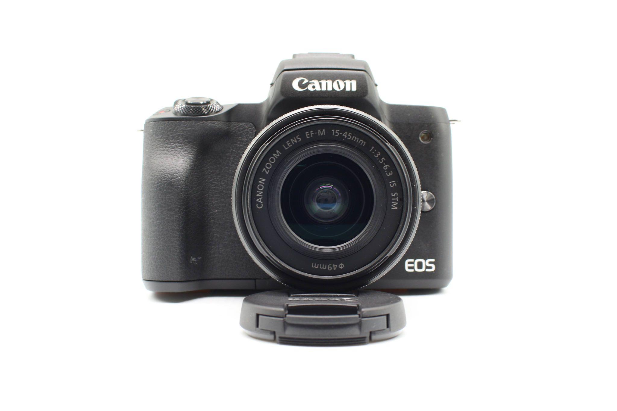 Máy ảnh Canon EOS M50 + Lens 15-45mm, Mới 98%