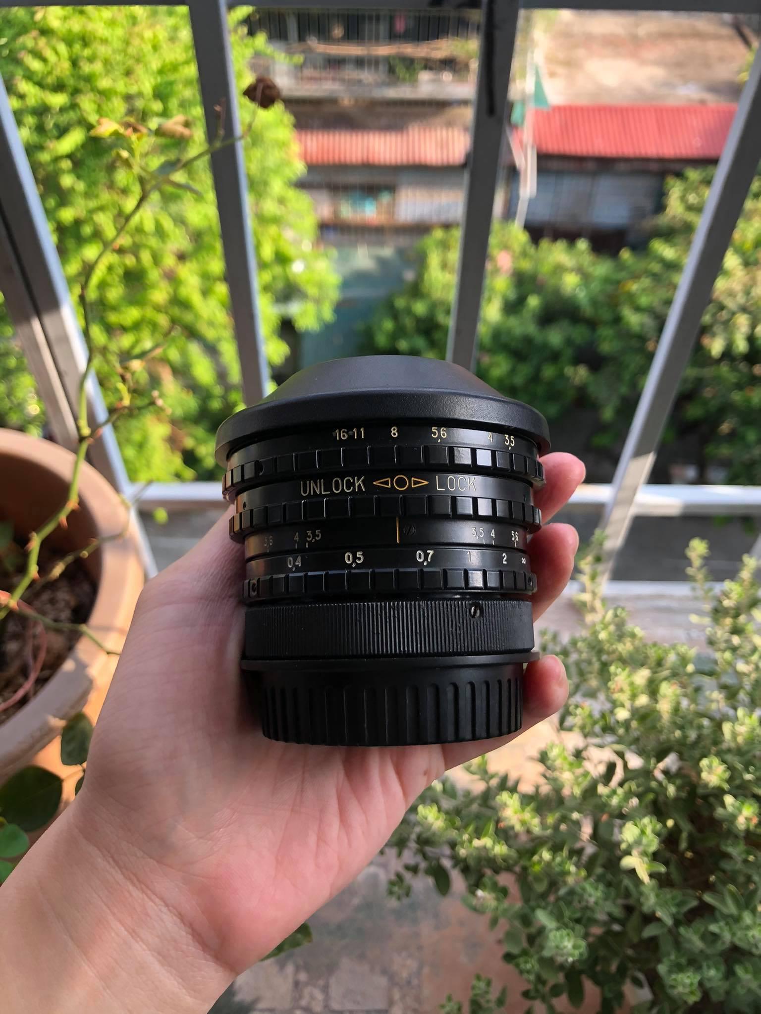 Ống kính mắt cá BelOMO Peleng 8mm f / 3.5 EWP MC dành cho Canon EOS