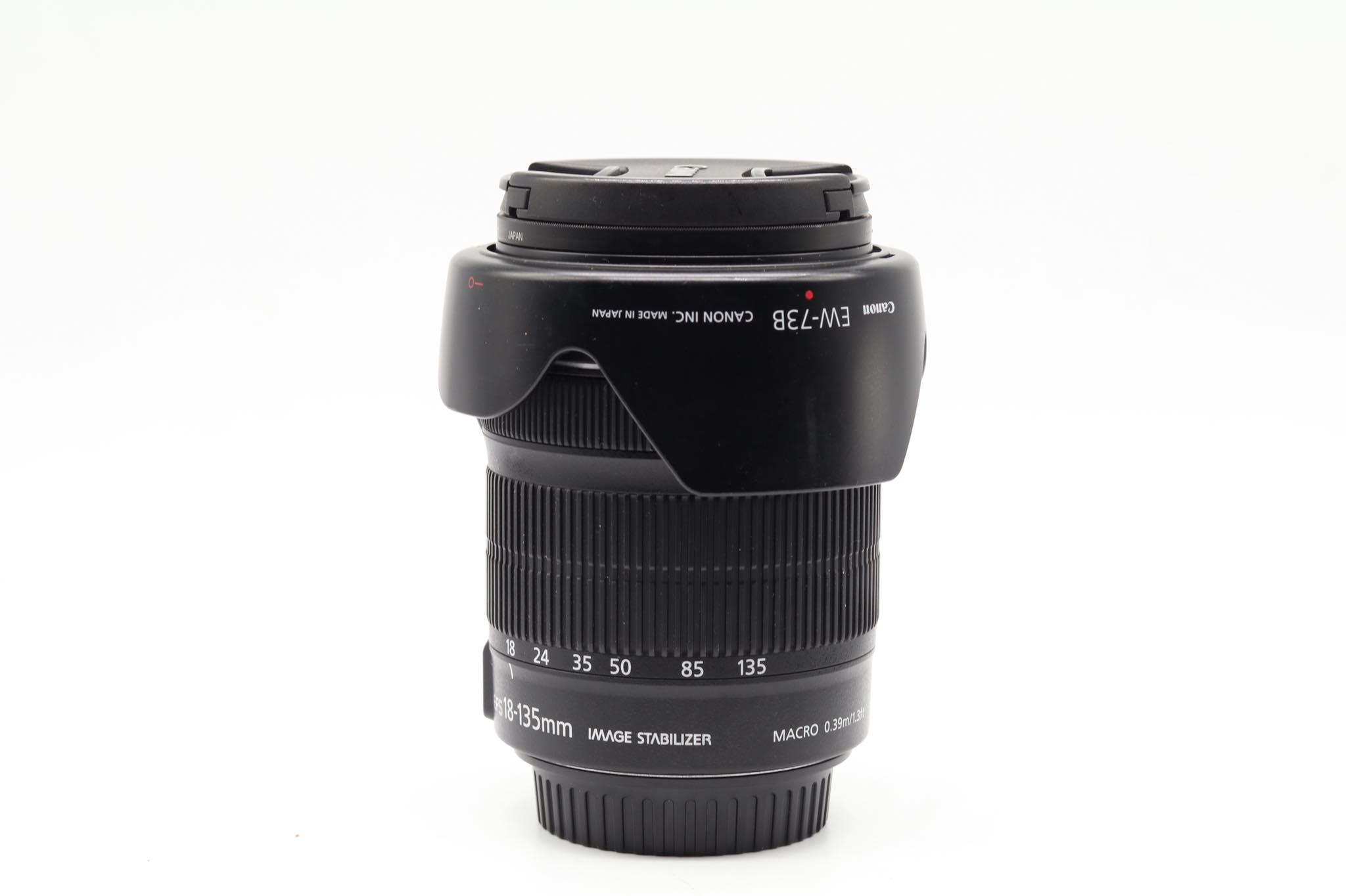 Ống kính Canon EF-S 18-135mm f/3.5 -5.6 IS STM kèm hood