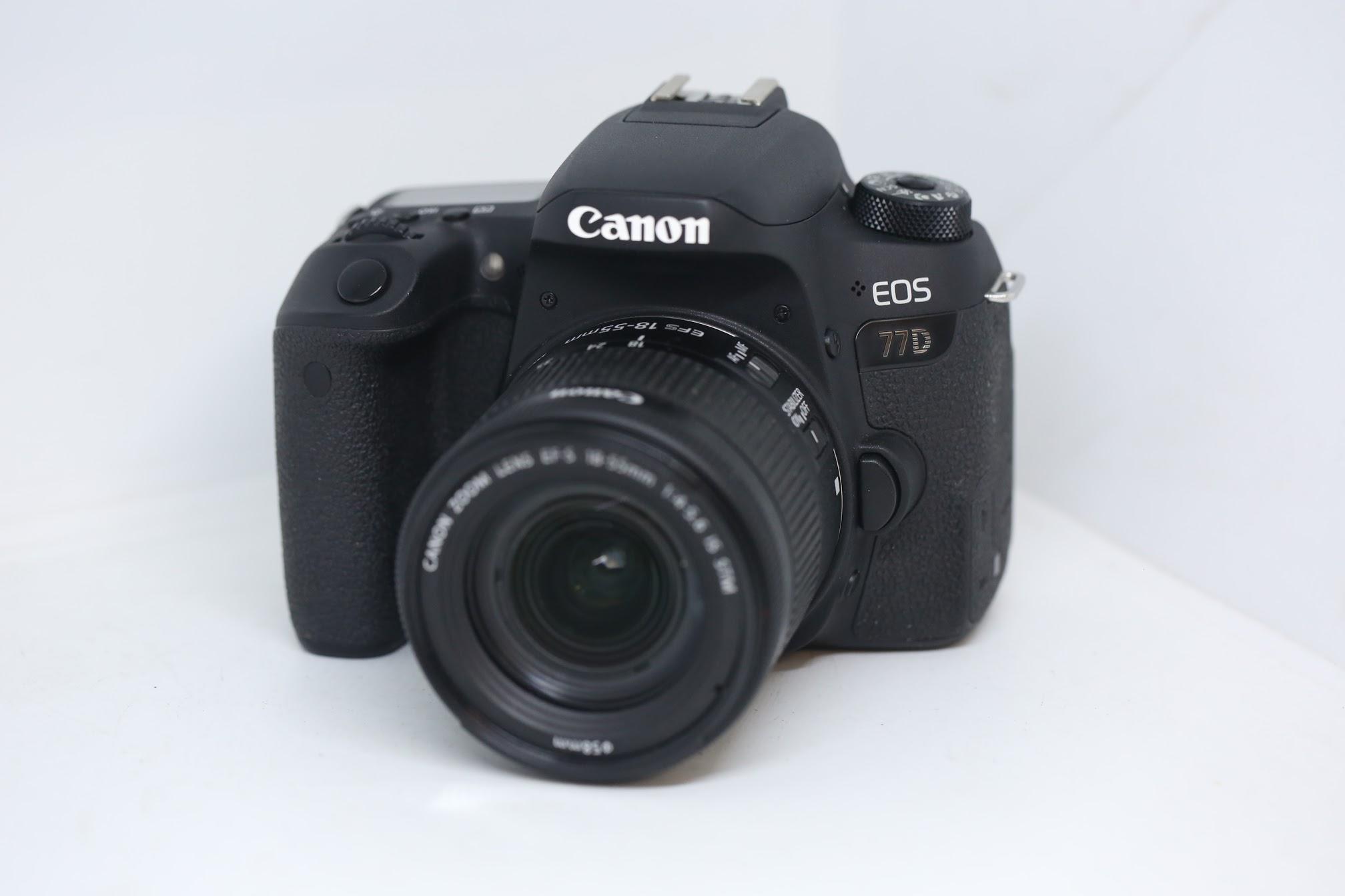 Máy ảnh Canon EOS 77D + Len Canon 18-55 STM