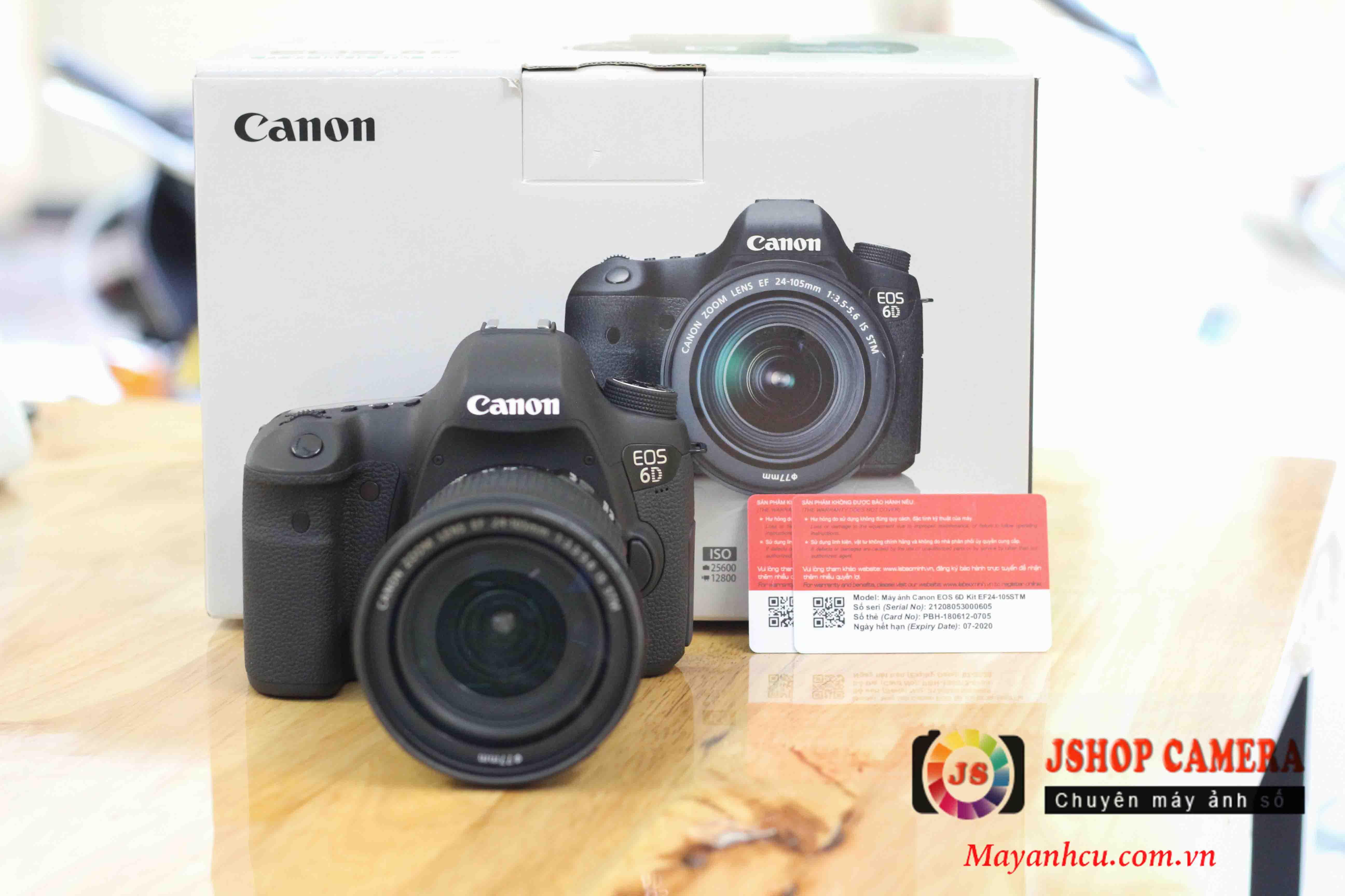Máy ảnh Canon 6D + Lens 24-105mm F/3.5-5.6 IS STM