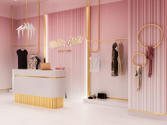 quầy thu ngân shop thời trang