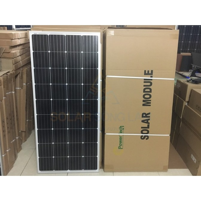 Tấm pin NLMT POWERTECH 160W MONO- PT160WP - Hàng chính hãng