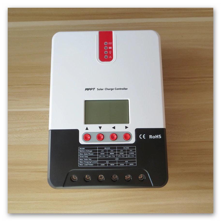 Điều khiển sạc năng lượng mặt trời công nghệ MPPT nhãn hiệu SRNE 40A autovol 12/24vol