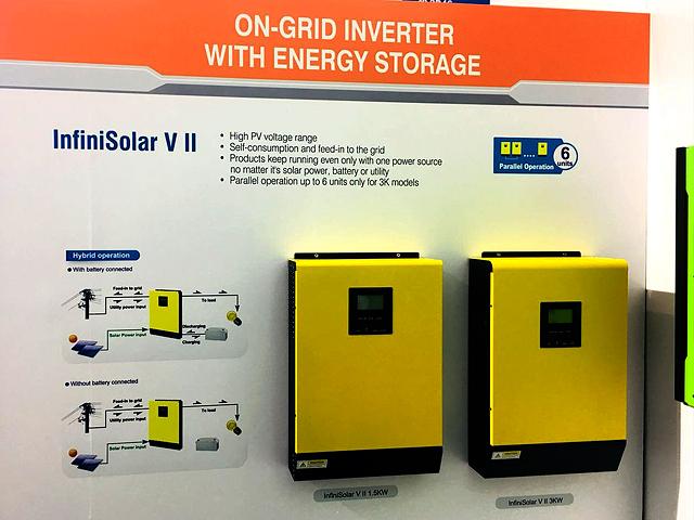 Máy invertter hòa lưới có lưu trữ ON/OFF INFINISOLAR V II 3KW-48vol-80A Mppt SCC